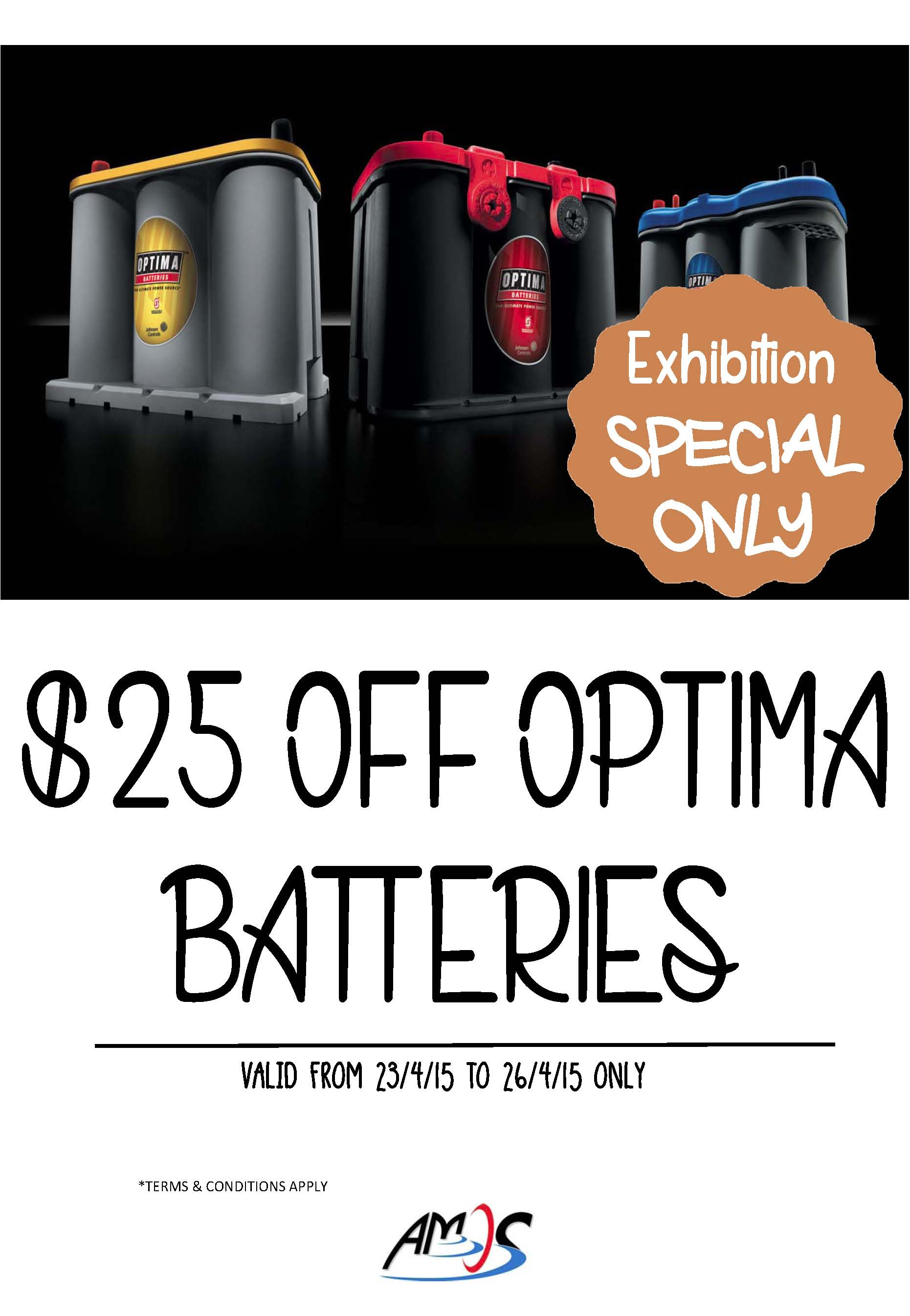 Optima batteries promotion for SYS